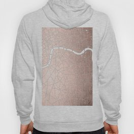 RoseGold on White London Street Map II Hoody