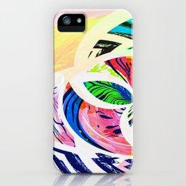 Bright Botanical Swirls Abstract Design iPhone Case