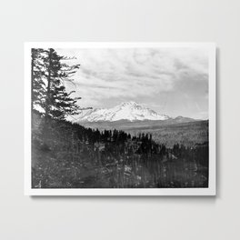 Mount Shasta, and neighboring mountain Shastina, Siskiyou County, ca.1900-1940 Metal Print