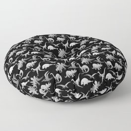 Black and White Dinos Floor Pillow