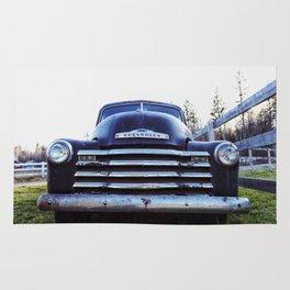 Chevy, Black Truck Rug