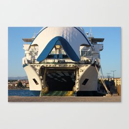 Ferry Boat Ready For Departure Canvas Print