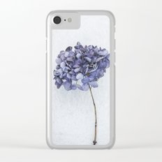 Dried Blue Hydrangea Clear iPhone Case