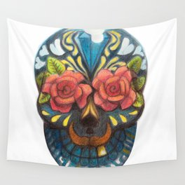 mexican skull Wall Tapestry