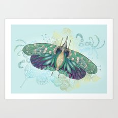 Hotinus Maculatus ~ Blue Version Art Print