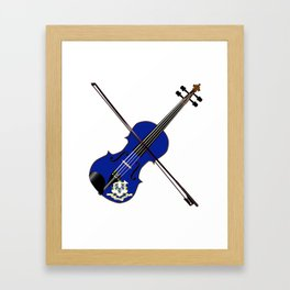 Connecticut State Fiddle Framed Art Print