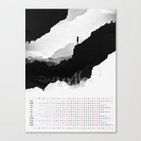 calendar Canvas Prints featuring White Isolation 2016 Calendar by Stoian Hitrov - Sto