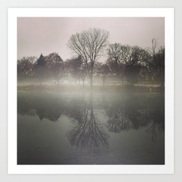 Foggy Mirror Art Print