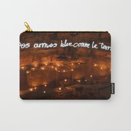 Des Armes Blue Comme La Terre // Weapons, Blue Like the Earth Carry-All Pouch