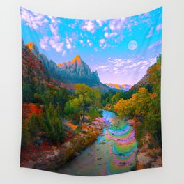 Flowing With The River Wall Tapestry