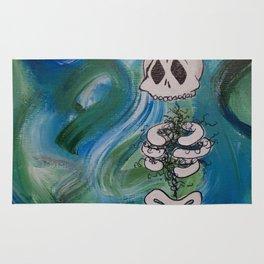 Blue Skelly Dude Rug
