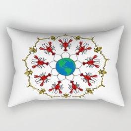 Crawfish Mandala Rectangular Pillow
