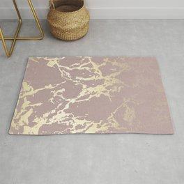 Kintsugi Ceramic Gold on Clay Pink Rug