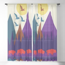 Three Bison Sheer Curtain