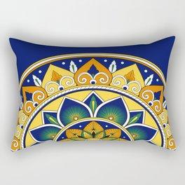 Italian Tile Pattern – Peacock motifs majolica from Deruta Rectangular Pillow