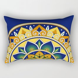 Italian Tile Pattern – Peacock motifs majolica from Deruta Rectangular Pillow