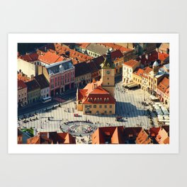 Old Town Brasov, Romania Art Print