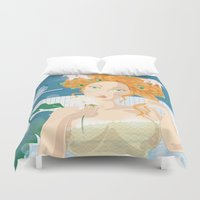 virgo Duvet Covers featuring Virgo by Alfonso Costanza
