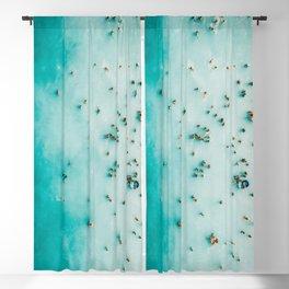 Beach Photography, Aerial Blue Ocean Print, Large Turquoise Ocean Poster, Coastal Wall Art, Beach Blackout Curtain