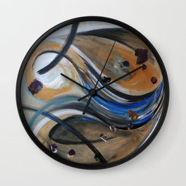 The Wind and the Funny Mushroom Wall Clock
