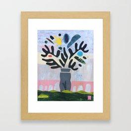 Pont du Gard Plant Framed Art Print