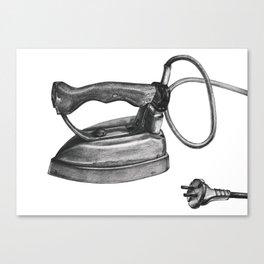Rustic iron black&white Canvas Print