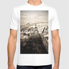 Shadow Over Paris Mens Fitted Tee White MEDIUM