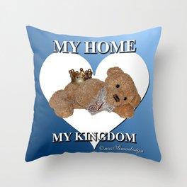 My Home, My Kingdom - Blue Throw Pillow