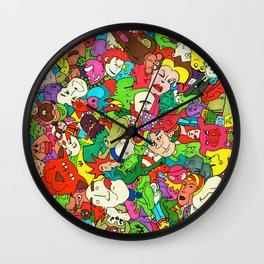 Marker Madness Wall Clock