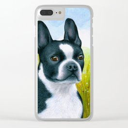 Boston Terrier Dog Clear iPhone Case