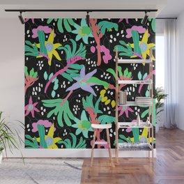 Australian Kangaroo Paw Floral in Golden Mango Wall Mural