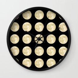 PolkaMoons Wall Clock