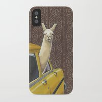 window iPhone & iPod Cases featuring Taxi Llama by Jason Ratliff