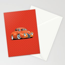 Custom Street Rod Vintage Car Hotrod Cartoon Stationery Cards