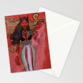 Red devil  Stationery Cards