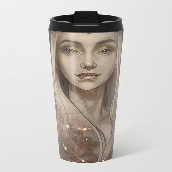 Zodiac Capricorn Metal Travel Mug