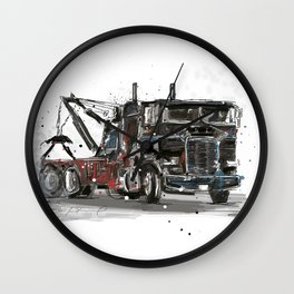 Tow-truck Wall Clock