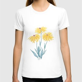 three yellow flowers T-shirt