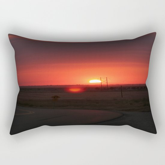 Sunset Highway Rectangular Pillow
