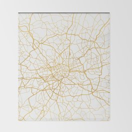 LONDON ENGLAND CITY STREET MAP ART Throw Blanket