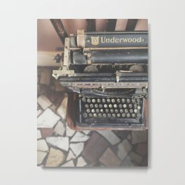 Ordinarily Beautiful Typewriter  Metal Print