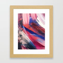 Los Angeles: A vibrant, abstract piece in reds and blues by Alyssa Hamilton Art Framed Art Print