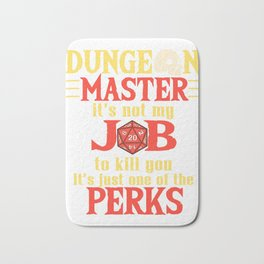 Tabletop Gaming DM Perks Gift Dragons D20 Dice Print Bath Mat