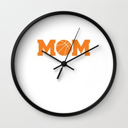Proud and Loud Basketball Mom Funny Sports T-shirt Wall Clock