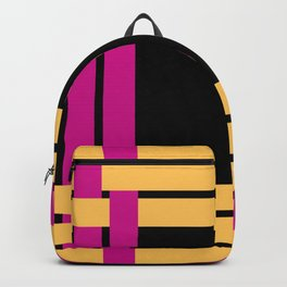 The intertwining pink and yellow ribbons Backpack