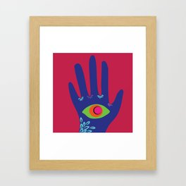 All Seeing Hand Framed Art Print