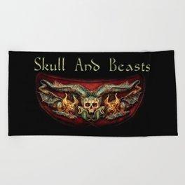 Skull And Beasts 2 Beach Towel