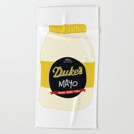 Duke's Mayonnaise Beach Towel
