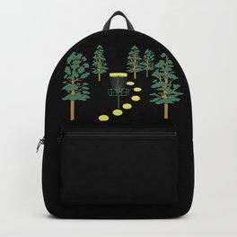 Disc Golf Stupid Trees Woods Men Women Court Gift Backpack
