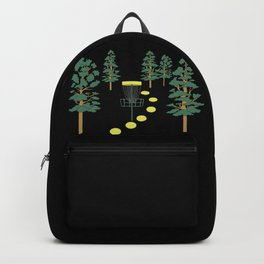 Disc Golf Stupid Trees Woods Men Women Court Gift Backpack
